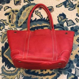 J. Crew Collection Uptown tote red tan bag handbag